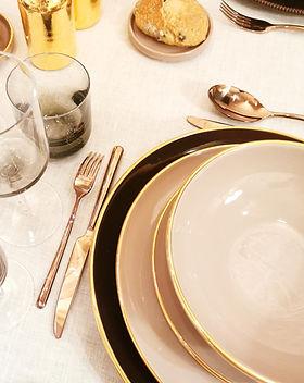 Art de la table | Céramique | Assiettes Bord Métallisé | Enza Fasano