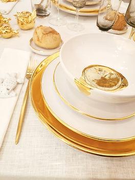Art de la table | Céramique | Assiettes Splash Métallisé | Giovanna Alò
