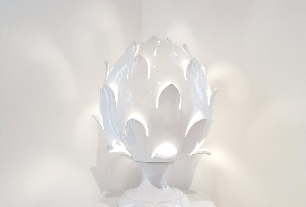 Lampe Pumo Écailles | Blanc | 50 cm | 1150 €