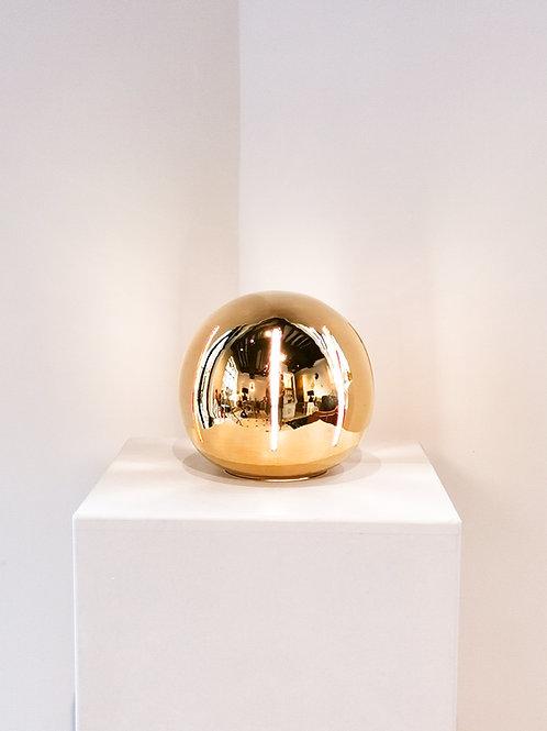 Lampe Ronde Striée Or | 20 cm | 725 €