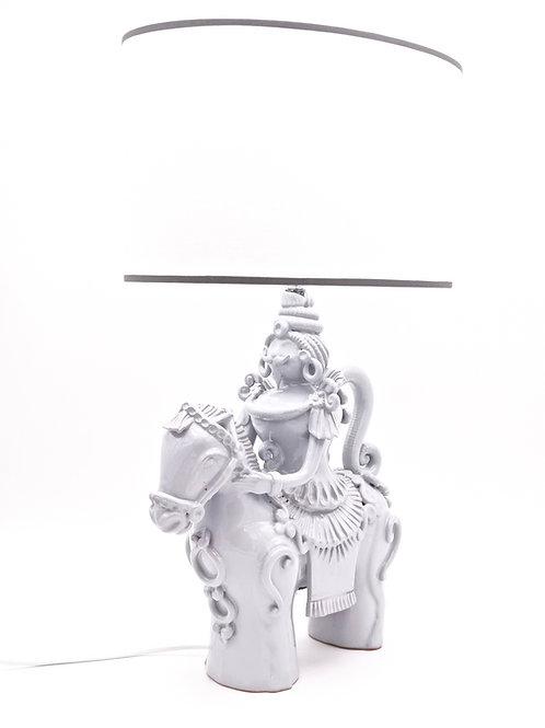 Lampe Cavalier Classique | Homme | Gris perle | 35 cm | 575 €
