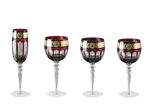 Lots de flûtes & verres | Gala Prestige | Rouge Medusa