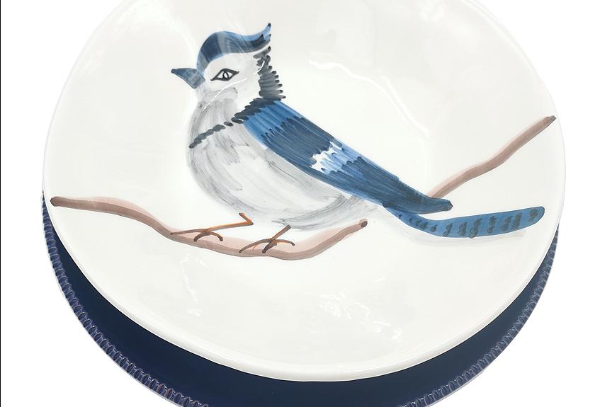 Lot de 4 assiettes plates & creuses  | Geai bleu & Colori di Puglia Bleu nuit