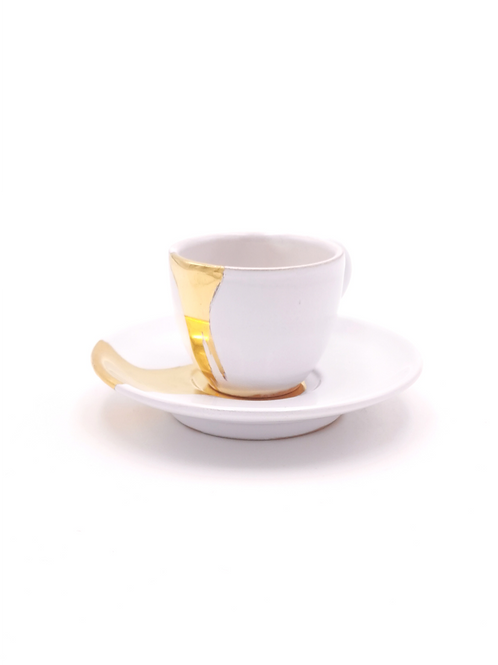 Tasses & soucoupes | Blanc splash or | à partir de 66 €