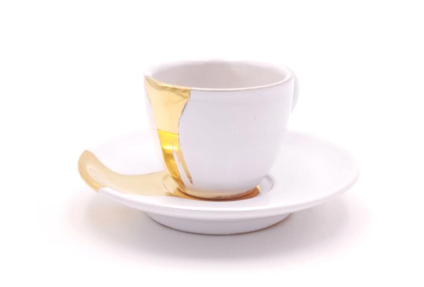 Tasses & soucoupes | Blanc splash or | à partir de 49 €