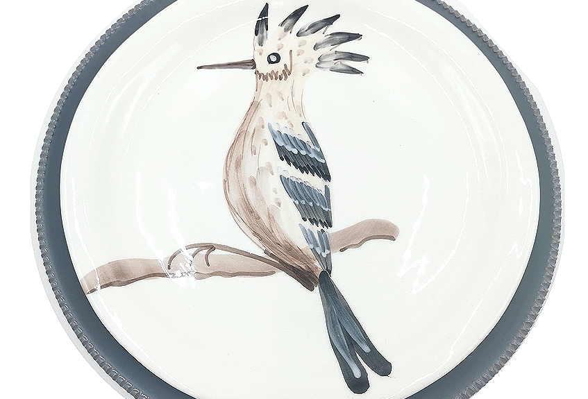Lot de 4 assiettes plates | Huppe Fascié & Colori di Puglia Gris