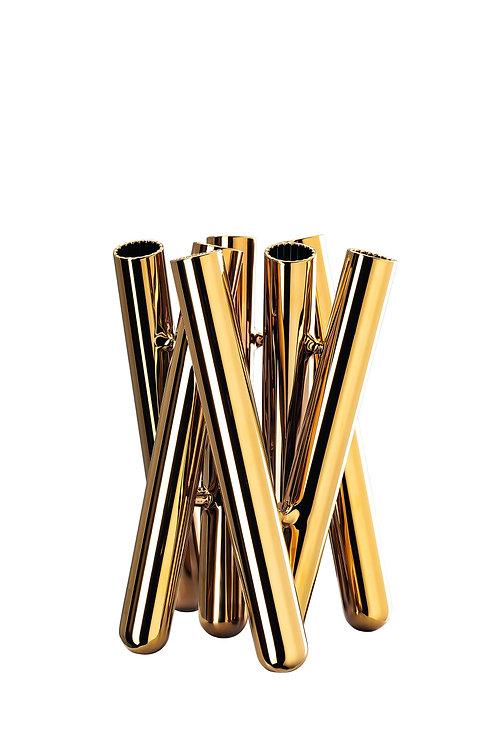 Vase Seven Contour | Or | 21 cm | 149 €