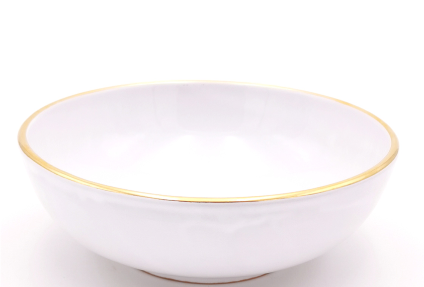 Bols & saladiers | Bord doré | Blanc | à partir de 21 €