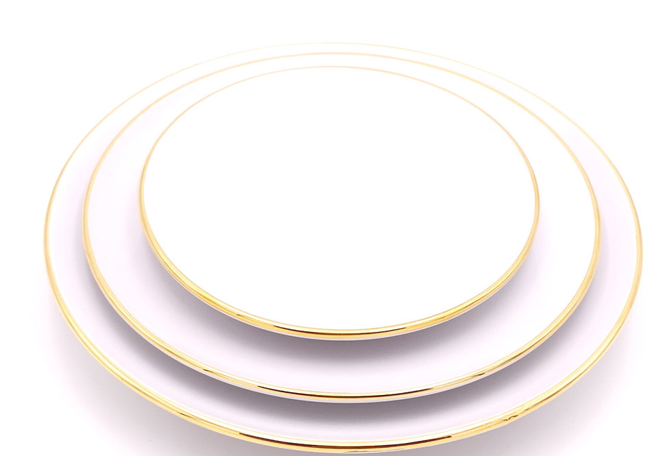 Assiettes plates | Bord doré | Blanc | à partir de 32 €