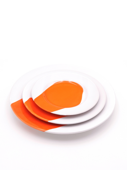 Assiettes à rebords | Splash Orange | à partir de 33 €