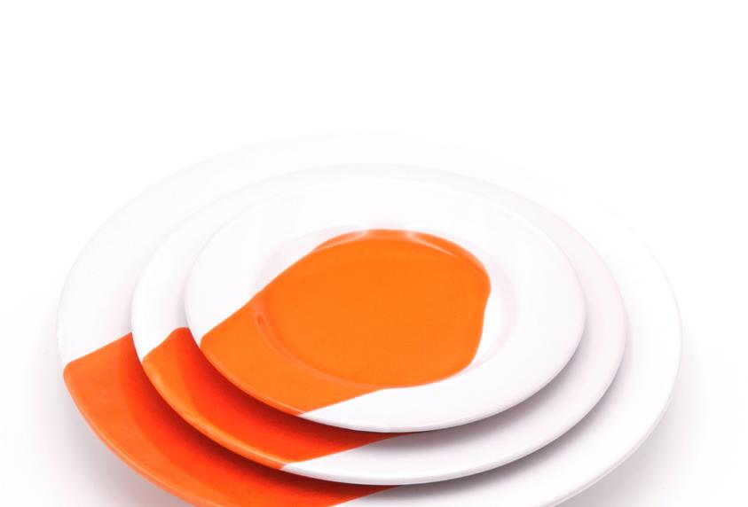 Assiettes à rebords | Splash Orange | à partir de 39 €