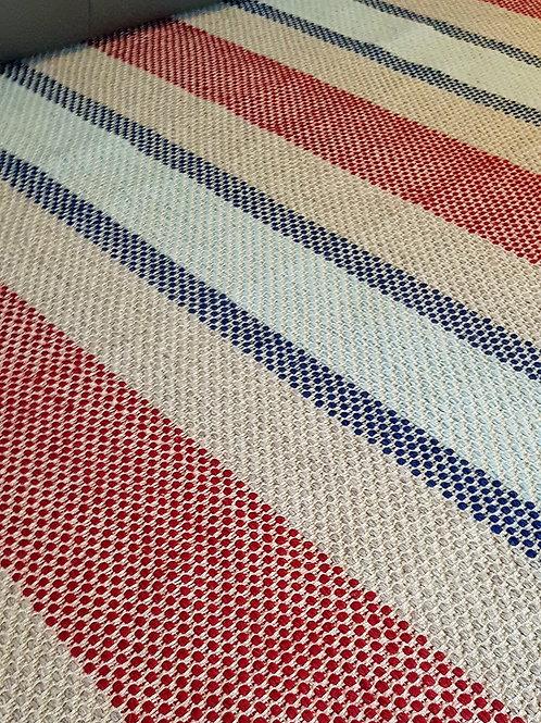 Tapis rayé | Trame Beige | Rayures Multicolore | 170x230 cm | 1 295 €