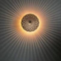 Art de la lumière, céramique, fait main, applique ronde, lumière rayon de soleil, Made in Italy, Galerie des Lyons