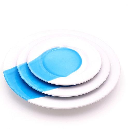 Assiettes à rebords   Splash Turquoise   à partir de 33 €