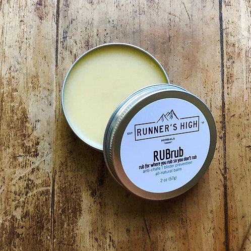 Runner's High RUBrub Balm | anti-chafe and blister prevention 2 oz