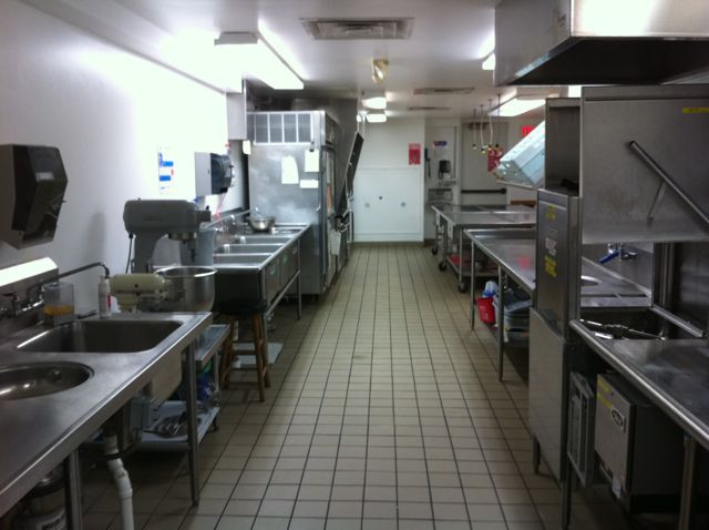 Full-sized commercial kitchen