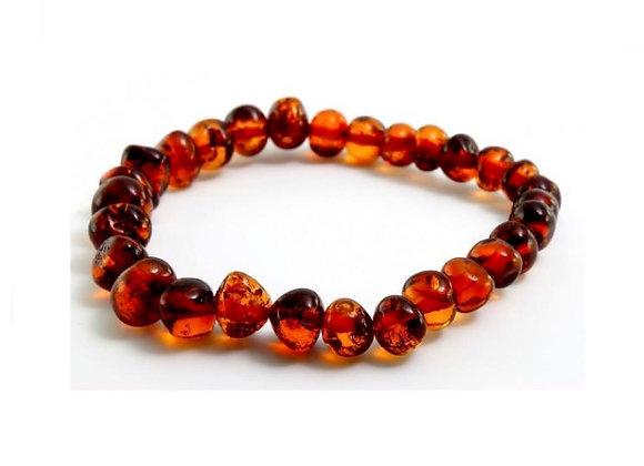 Butterscotch baltic amber bracelet. Adult size