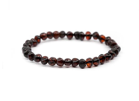 Cherry baltic amber bracelet. Adult size