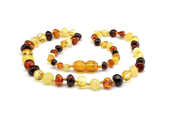 Multi Coloured Baltic Amber Teething Necklace