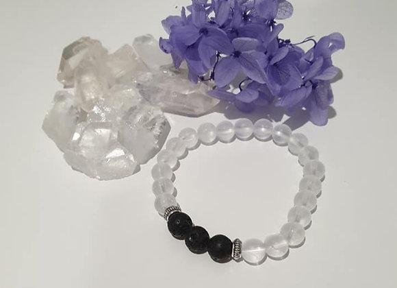 Clear Quartz Diffuser Bracelet