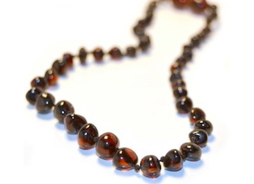 Cherry Baltic Amber Teething Necklace