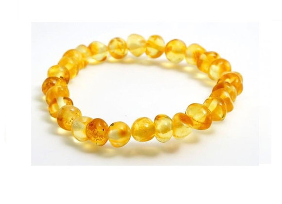 Lemon baltic amber bracelet. Adult size