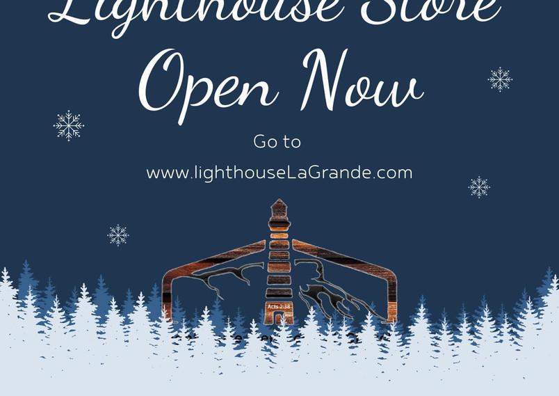 Lighthouse Store Open Flyer