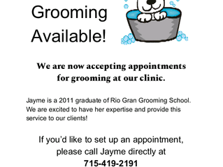 Grooming now available