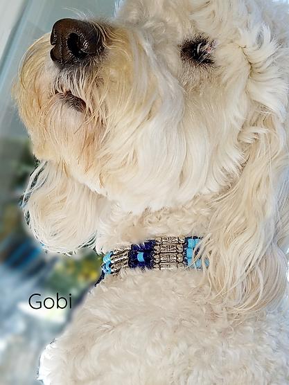 Gobi Neck On Window Blue Silver Love Col