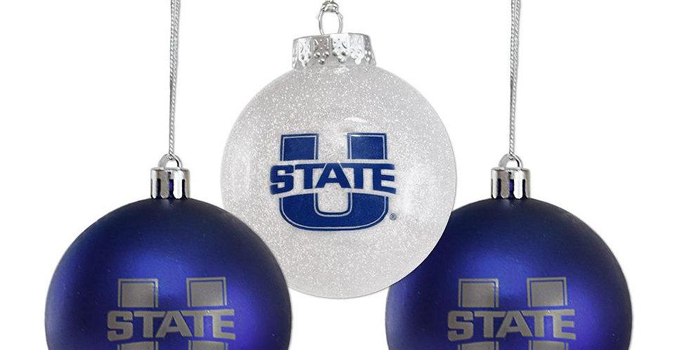 Utah State Bulb Ornament Set