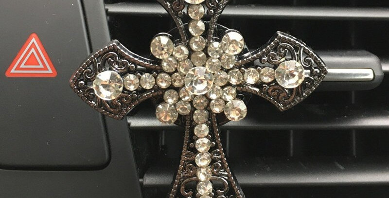 Diamond Air Freshener Cross