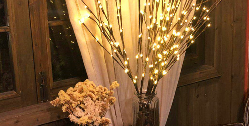 CLED Willow Branch Lamp