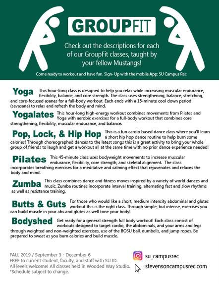 Fitness Class Description