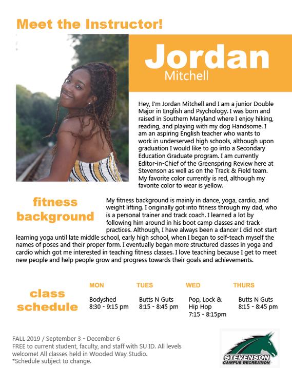 Fitness Instructor Jordan