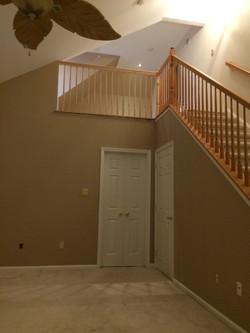 Stair railings and loft