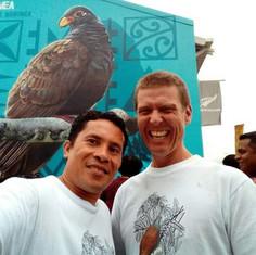 Fia & Steve NZHC Mural