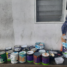 Preparing to Paint Savaii