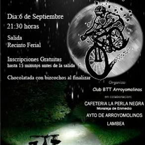 El club BTT BICICLETAS ANGEL acudió a la marcha nocturna de Arroyomolinos.