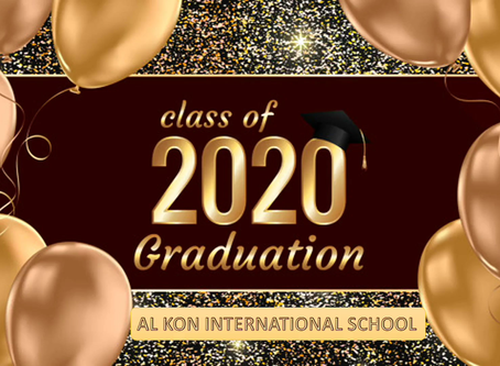 Congratulations on your graduation Class of 2020