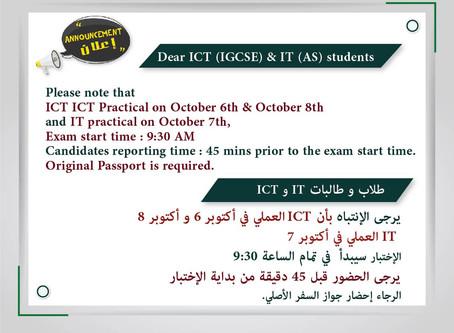 Dear ICT (IGCSE) & IT (AS) students