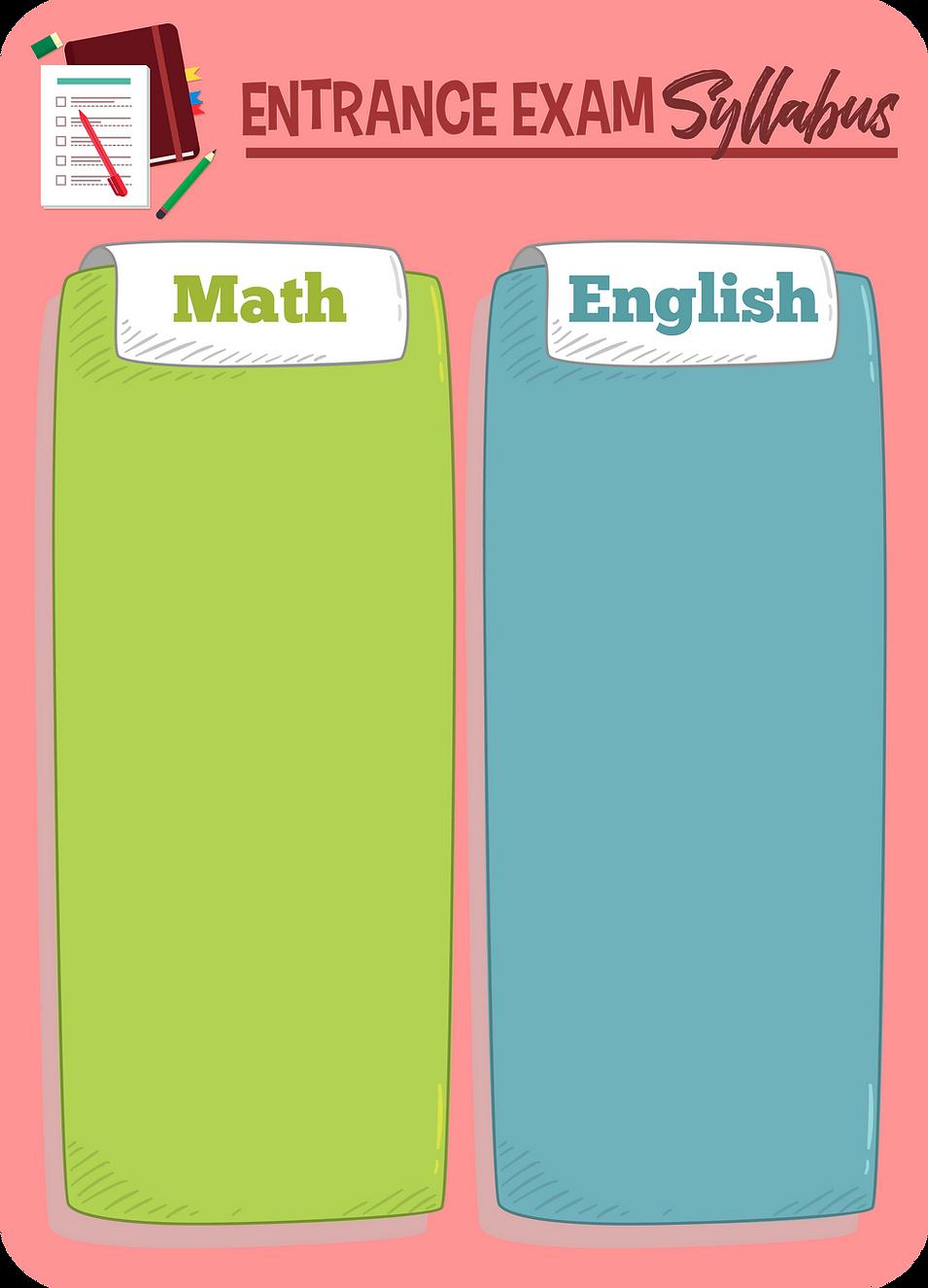 Plain Exam Syllabus Math English Table_M