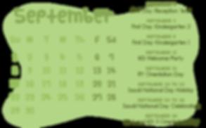 School Calendar of Activities_KG 1Septem