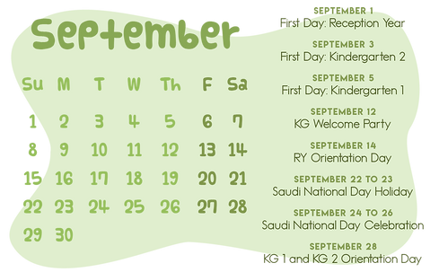 School Calendar of Activities_KG 1Septem