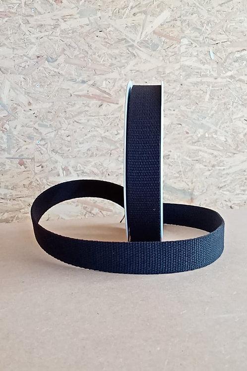 Sangle coton 3cm noir