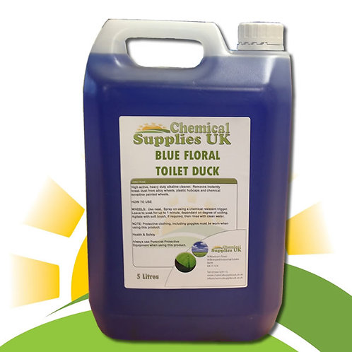 Blue Floral Toilet Duck