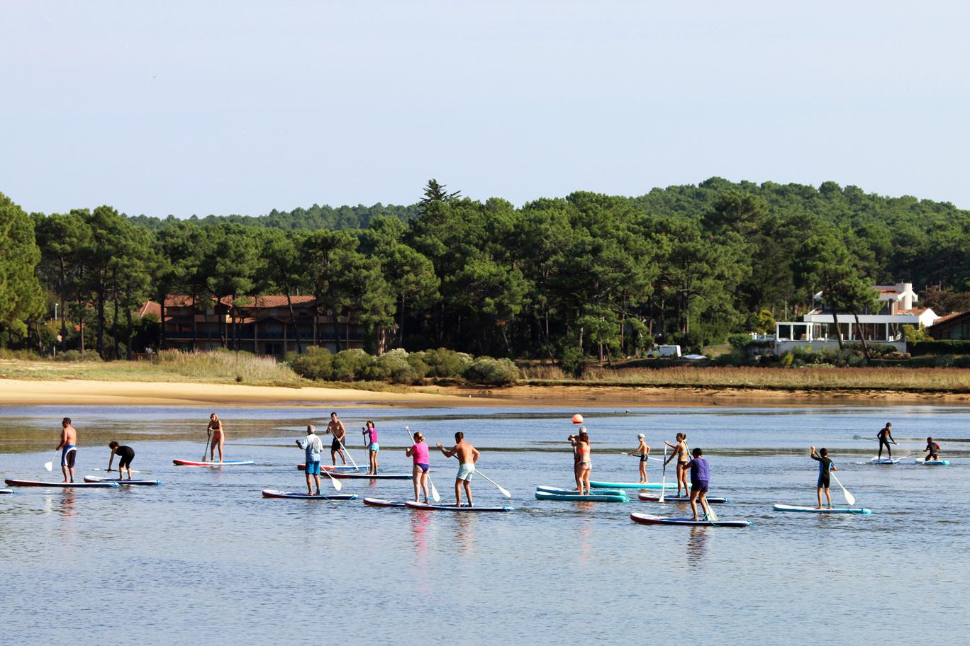 Paddle sur lac