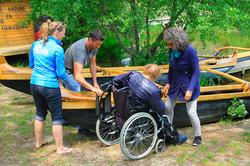 Pirogue handicapés