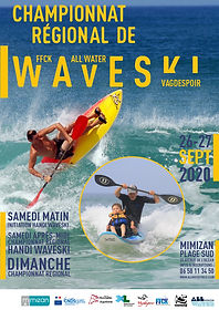 Affiche championnat waveski intro hando.