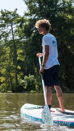 Descente du courant en paddle