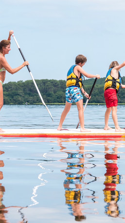 Paddle family lac Aureilhan Mimizan